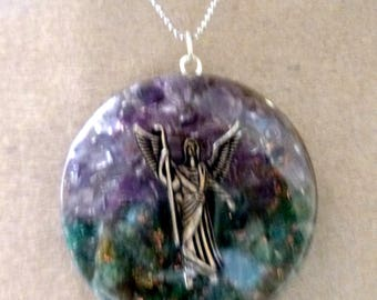 Archangel Raphael orgonite pendant