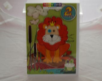2 Today Birthday Card with a Lion