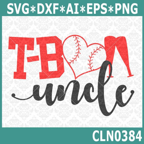 CLN0384 T-ball TeeBall Uncle Aunt Sister Brother Family SVG DXF Ai Eps PNG Vector Instant Download COmmercial Cut File Cricut SIlhouette