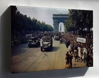 Canvas 24x36; Liberation Of Paris 1944