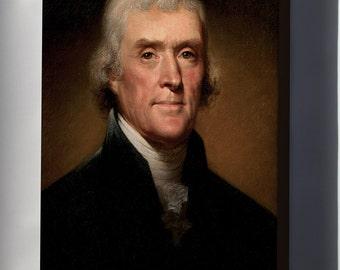 Canvas 24x36; Thomas Jefferson By Rembrandt Peale, 1800