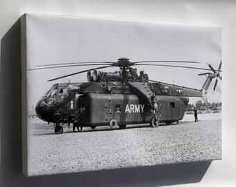 Canvas 24x36; U.S. Army Sikorsky Ych-54A Ch-54 Tarhe 1965