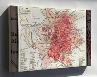 Canvas 24x36; Map Of Rome During Antiquity