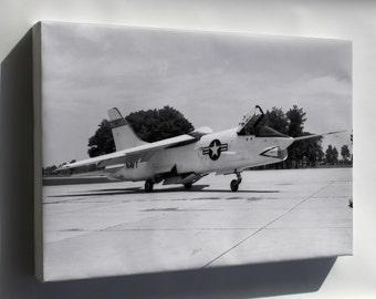 Canvas 24x36; Vought F8U-1 Crusader At The Naca Langley 1956
