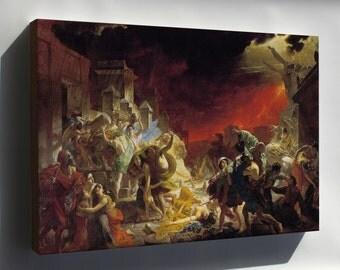 Canvas 16x24; Last Day Of Pompeii By Karl Briullov
