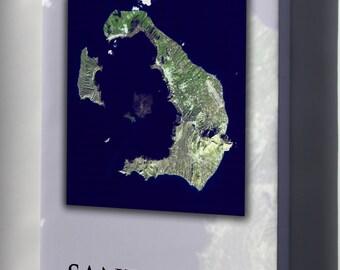 Canvas 16x24; Santorini Island, Greece Atlantis