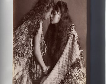 Canvas 16x24; Maori Women, New Zealand C1900