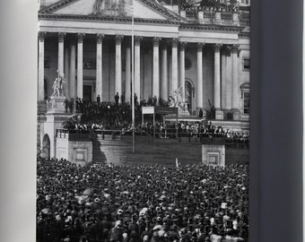 Canvas 16x24; Abraham Lincoln Inauguration 1861