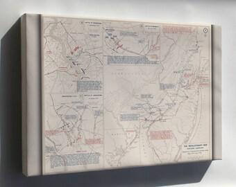 Canvas 16x24; Map Of Revolutionary War Pennsylvania New Jersey