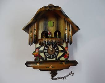 E Schmeckenbecher 'Blaue Donau' Cuckoo Clock West Germany for Fixing/Parts