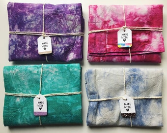 SALE! Shibori Dyed Shopping Tote Bags in Various Colours