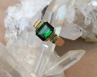 Ladies Green Tourmaline Ring