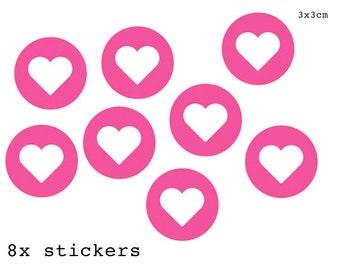Stickers around Pink