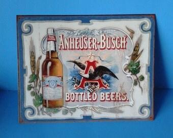 """Metal Sign * Budweiser Anheuser Busch * 12""""x18"""""""