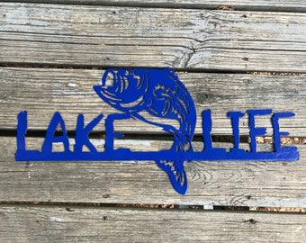 Lake Life, Lake sign, Lake house decor, Metal lake sign, Metal lake decor, Outdoor lake sign, Lake family sign, Metal personalized