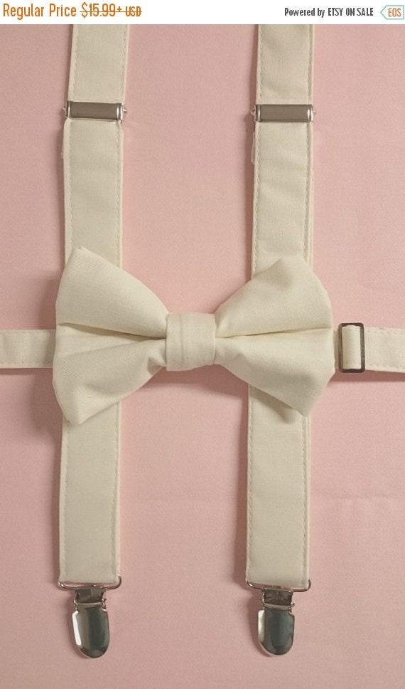 Winter Sale Adult & Children's Cotton Pretied Bowtie/ Pretied Bow Tie Milky White Bow Tie
