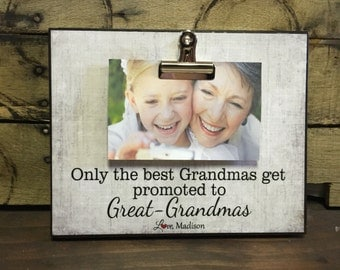 grandparents picture frame gift grandparents gift only the best grandmas get promoted to great grandmas 8x10 photo board with clip