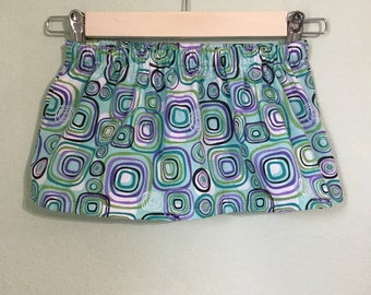 Square Patterned Baby Skirt