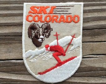 Ski Colorado Vintage Travel Souvenir Patch by Voyager