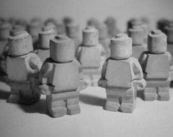 Handmade Concrete Lego Man 10cm