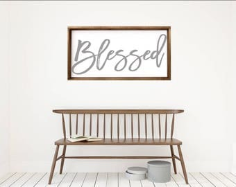 Blessed|Wood Sign