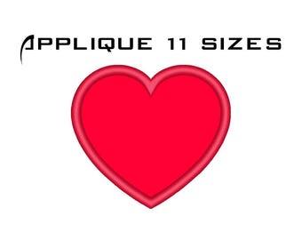 Heart Applique Design - Machine Embroidery Applique Heart - Love Applique Design