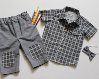 Baby boy outfit size 12 months, 1 year old %100 cotton 3 piece set