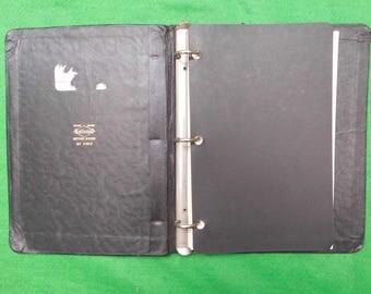 mid centuary ringbound file British Made