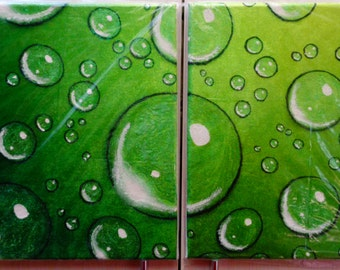 Canvas made with bubbles