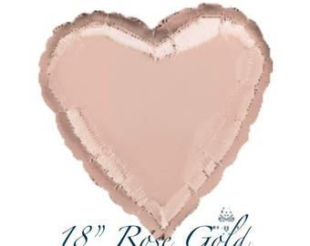 """18"""" Rose Gold Mylar Balloon"""