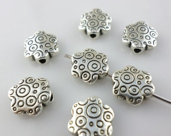 10/40/300pcs Tibetan silver oblate Flower Spacer Beads 3x9mm