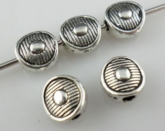 35/150/1000Pcs Tibetan Silver Oblate Spacer Beads 3x6mm
