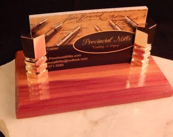 Business Card Holder with Cedar Wood #BCH005