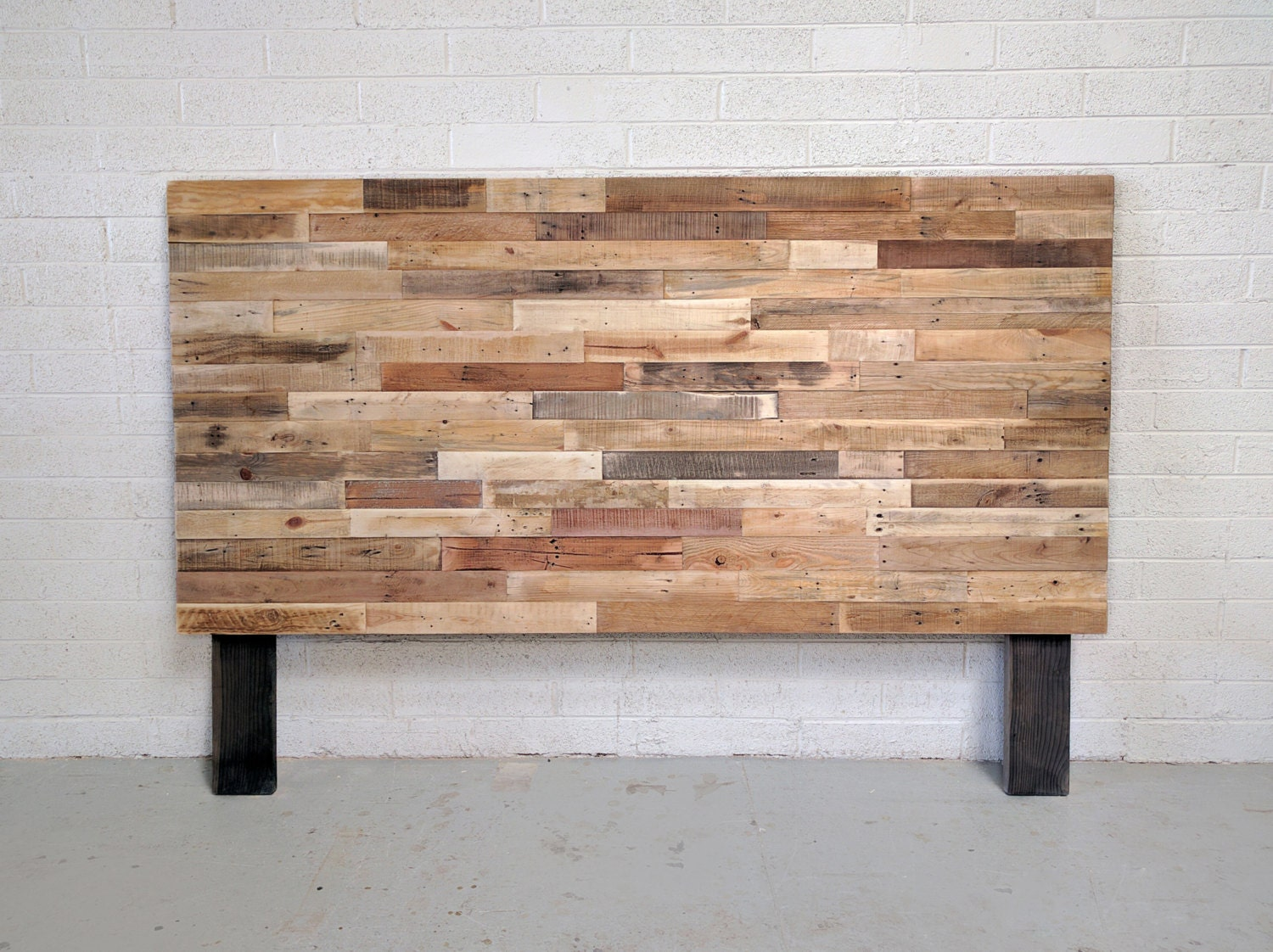 Recycled Pallet Wood Headboard Or Bed Custom Reclaimed King