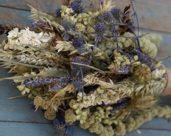 Rustic Autumn Dried Flower Bouquet