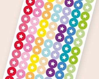 112 tiny matte dot stickers, star round stickers, circle stickers, planner stickers, scrapbook sticker, reminder checklist sticker