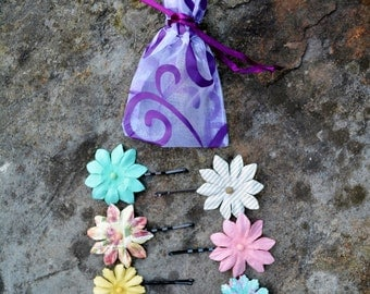 Spring Flower Bobby Pin Clips