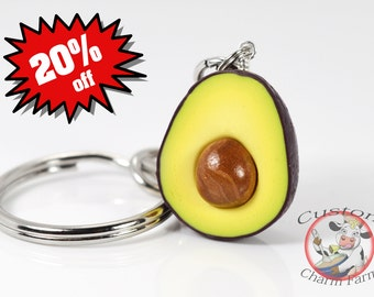 Avocado Keychain Miniature Food Keychain