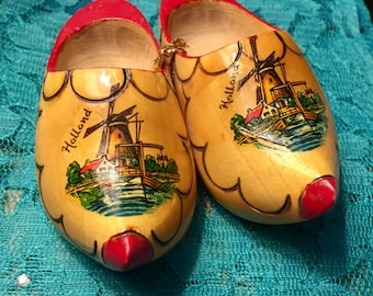 Miniature Wooden Dutch shoes Souvenir of Holland