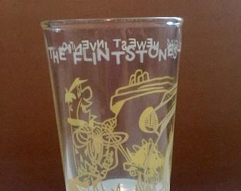 Vintage Fred Flinstone juice glass 1962 Greatest Invention