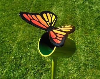 Butterfly Garden Sculpture, Butterfly Metal Sculpture, Large Outdoor Metal Sculpture, Butterfly garden Art, Lawn Decor, Garden Gift