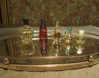 Perfume Bottle Collection Vintage 1950-70's Mini Bottles Perfumes Multi Scent Home Dresser Bedroom Bathroom Decor Collectible - Acc0103