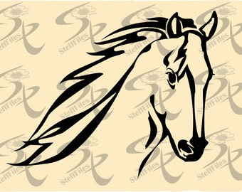 0443_Vector HORSE HEAD Signature Silhouette,SVG,dxf,ai, png, eps, jpg,Download files, Digital, graphical