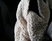 Chunky Crocheted Infinity Scarf, Oversized Cowl, Neckwarmer