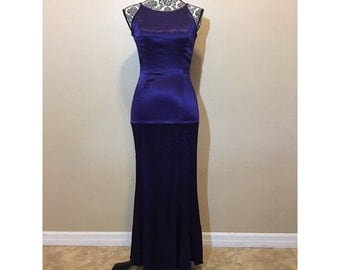 Vintage 90s Prom Dress | Purple Prom Dress