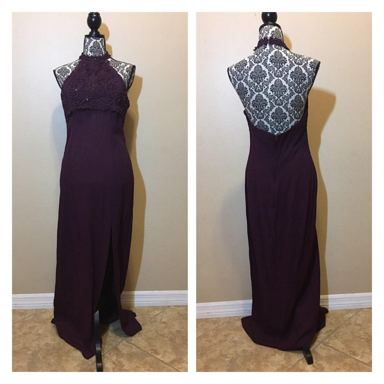 Vintage Prom Dresses Etsy - Purple Graduation Dresses