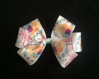 Frozen hair bow, elsa and anna hair bow, frozen, hair bow, Disney's frozen, disney hair bow, disney frozen hair bow, disney hair accessories