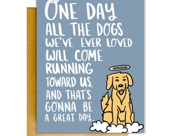 Pet Loss Card, Dog Loss Card, Condolences Card, Grieving Card, Pet Sympathy Card, Pet Greeting Card, Card for Pet Loss, Dog Heaven Card