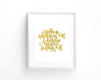 Tell Me What You Want, What You Really, Really Want | Spice Girls | 1 8x10 Gold Foil Print | Hand Lettering | Decor | Office | Girl Boss