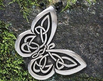 """Celtic Butterfly Necklace -  """"Spread your wings"""" - Celtic Knot Butterfly Pendant, Celtic Butterfly Pendant"""